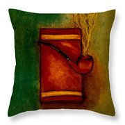 Smoking Pipe Throw Pillow