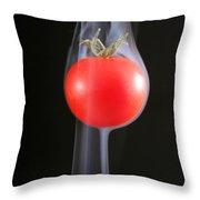 Smoking Tomato Throw Pillow