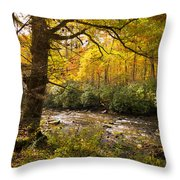 Smoky Autumn Throw Pillow