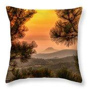 Smoky Black Hills Sunrise Throw Pillow