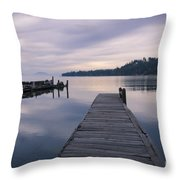 Smoky Blues Throw Pillow