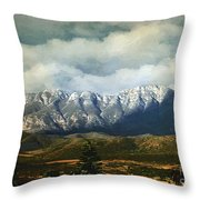 Smoky Clouds On A Thursday Throw Pillow