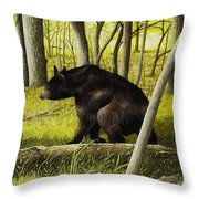 Smoky Mountain Bear Throw Pillow