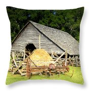 Smoky Mountain Farm Throw Pillow