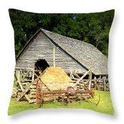 Smoky Mountain Farm Throw Pillow
