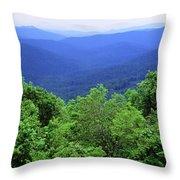 Smoky Mountain National Park Throw Pillow