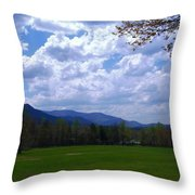 Smoky Mountain Range Throw Pillow