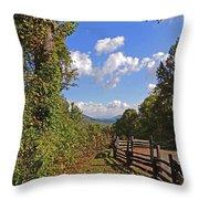 Smoky Mountain Scenery 12 Throw Pillow