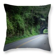 Smoky Mountain Tunnel Throw Pillow