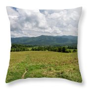 Smoky Mountains Cades Cove 1 Throw Pillow