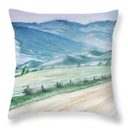 Smoky Mountains From Cades Cove Loop Throw Pillow