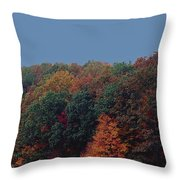 Smoky Mountains In Autumn Throw Pillow