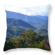 Smokey Mountains Throw Pillow