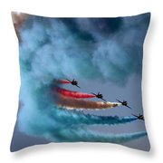 Smoky Rainbow Throw Pillow