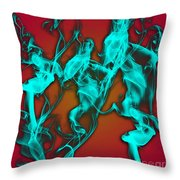 Smoky Shadows Throw Pillow