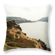 Smoky Sky Gray River Throw Pillow