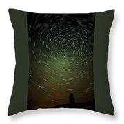 Smoky Starry Skies Throw Pillow