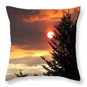 Smoky Sun Throw Pillow