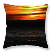 Smoky Sunrise Throw Pillow