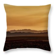 Smoky Western Landscape Throw Pillow