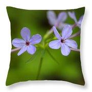Smoky Wildflowers Throw Pillow