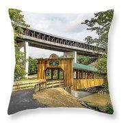 Smolen-gulf Bridge And Riverview Walk Bridge Throw Pillow
