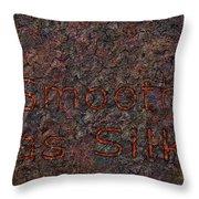 Smooth As Silk Throw Pillow by James W Johnson