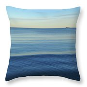 Smooth Blue Water On The Lynn Waterfront Throw Pillow