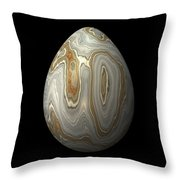 Smooth Grey Marble Egg Throw Pillow