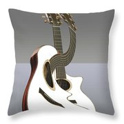 Smooth Guitar Throw Pillow