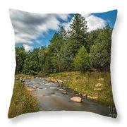Smooth Mountain Stream Throw Pillow