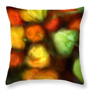 Smooth Peppers Throw Pillow