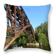 Smooth Ride Under The Arch Throw Pillow