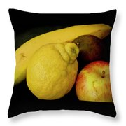 Smoothie Collection With Apple Note. Throw Pillow