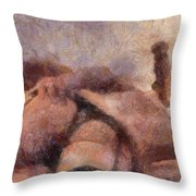 Smother Me By Mary Bassett Throw Pillow