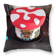Smurf House Throw Pillow