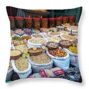 Snack Seller Throw Pillow