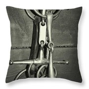 Snaffle Bits Tack Throw Pillow
