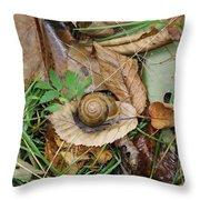 Snail At Home Throw Pillow