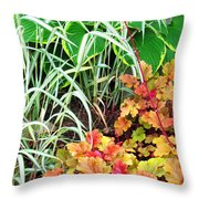 Snail In A Rich Composition Throw Pillow