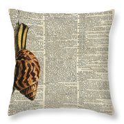 Snail Worm On Dictionary Page Throw Pillow