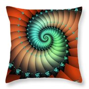 Snails On The Way Throw Pillow