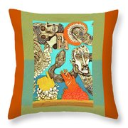 Snake And Skull Throw Pillow