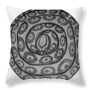 Snake Ball Throw Pillow