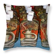 Snake In A Bottle Throw Pillow