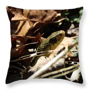 Snake In Nature Throw Pillow