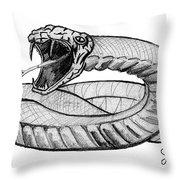 Snake Throw Pillow by John Keaton