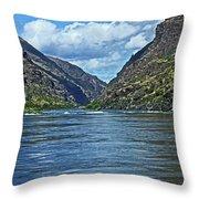 Snake River Hells Canyon Throw Pillow