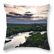Snake River Throw Pillow