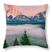 Snake River Overlook - Grand Teton National Park Throw Pillow
